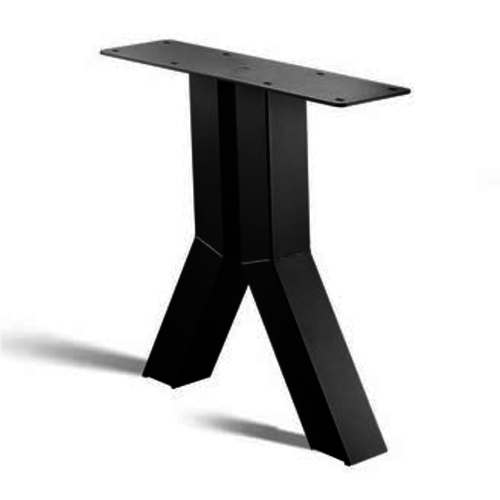 Y-poot - gecoat staal, antraciet, zwart
