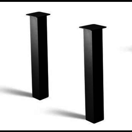 losse poten 4 stuks per set - gecoat staal, antraciet, zwart
