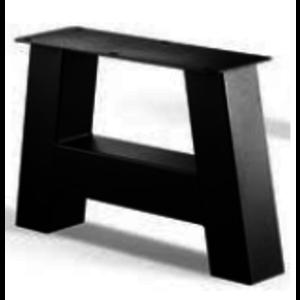 A-poot salontafel - gecoat staal, antraciet, zwart