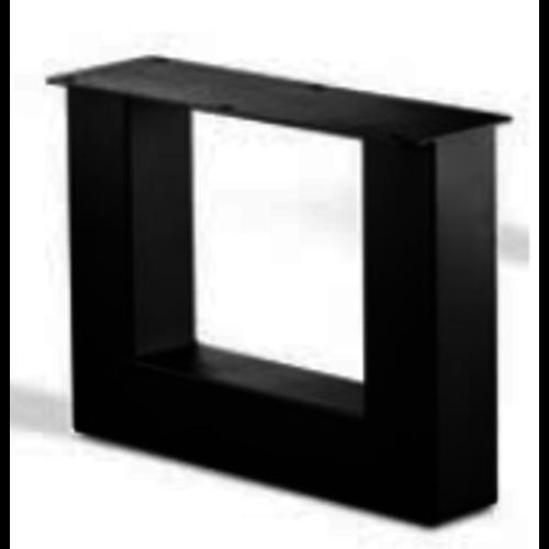 U-poot salon - gecoat staal, antraciet, zwart