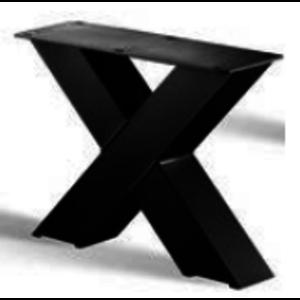 X-poot salontafel - gecoat staal, antraciet, zwart