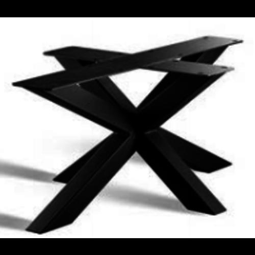 3D onderstel salontafel - gecoat staal, antraciet, zwart