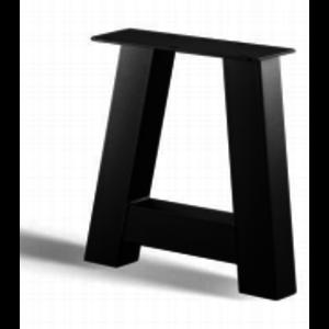 A-poot bankje - gecoat staal, antraciet, zwart