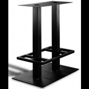 onderstel bar tafel dubbele uitvoering - gecoat staal, antraciet, zwart