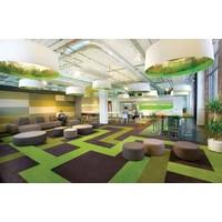 Groene tapijttegels