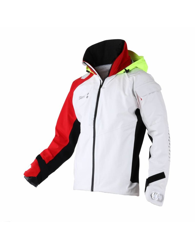 Slam WIN-D Offshore / Racing Jacket - Wit/Rood (E15)