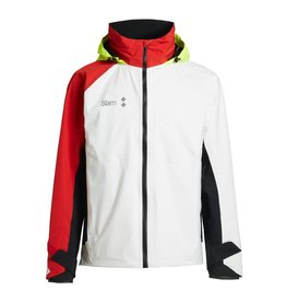 Slam WIN-D 3 Offshore/Coastal Jacket - Wit/Zwart/Rood (E15)