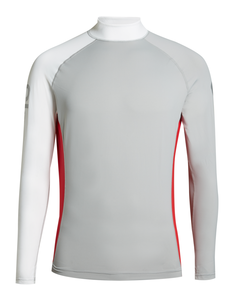 Slam Skiff Frigate top - Grey/white/slam red (E67)