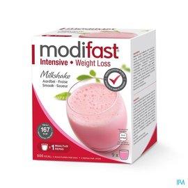 MODIFAST Modifast Intensive Milkshake Aardbei Zakje 9
