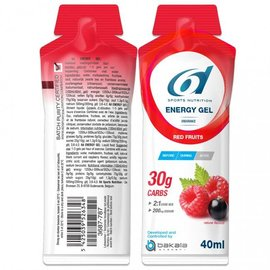 6d 6d Energy Gel Red Fruits 12x40g