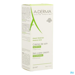 A-Derma Aderma Havermelk Verzorgingscr 50ml