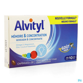 ALVITYL Alvityl Memoire Concentration Caps 30