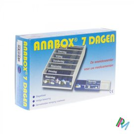 Fagron Anabox Pilbox Blauw 7 Dagen