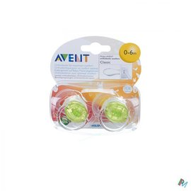 AVENT Philips Avent Fopspenen Transparant Silicone 3-6m 2 SCF170/18