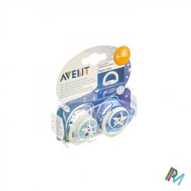 AVENT Philips Avent Sucette Silicone Nuit 6-18m 2 SCF176/22