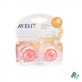 AVENT Philips Avent Fopspeen Transparant Silicone +6m 2 SCF170/22