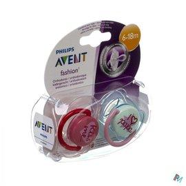 AVENT Philips  Avent Sucette Fashion Double 6-18m 2 SCF172/70