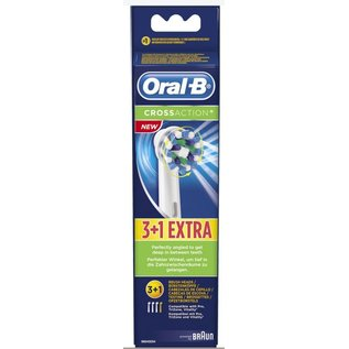 Oral B ORAL B BRAUN REFILL CROSS ACTION 3+1 ST
