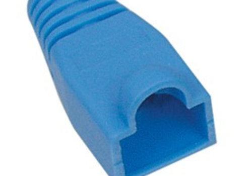 RJ45 Tule Blauw 10 stuks 6mm
