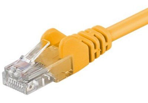 Cat5e 0.25M Geel UTP kabel