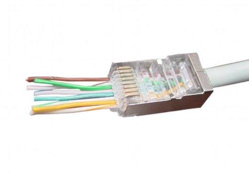 Gemakkelijke Cat5e connector shielded. 10 Stuks