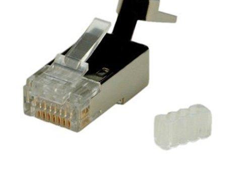 CAT6 Connector RJ45 voor stugge kabel Shielded 10 stuks