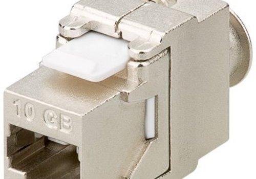 Toolless Keystone Jack CAT 6a 500MHz RJ45 STP SNAP-IN Shielded