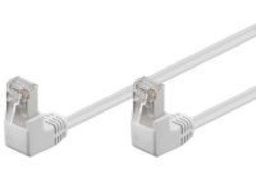 Cat5e 1 M Wit UTP-kabel 2 x haaks