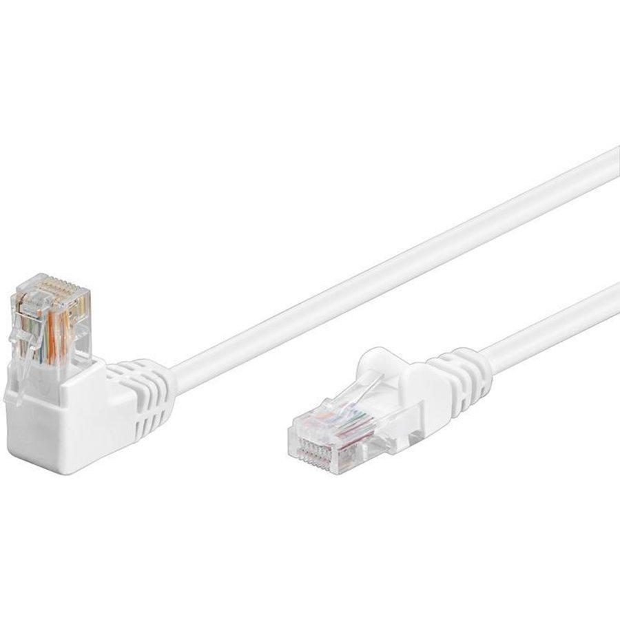 Cat5e 10 meter Wit UTP-kabel 1 x haaks