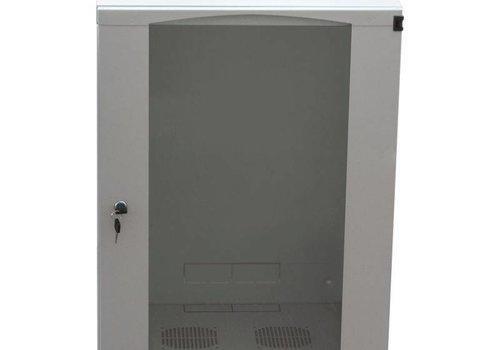 9U wandkast ongemonteerd 540x450x460mm licht grijs