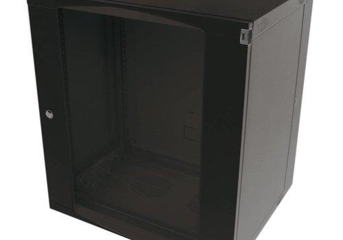 9U wandkast ongemonteerd zwenkbaar 540x600x460mm zwart