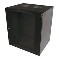12U wandkast ongemonteerd zwenkbaar 540x600x595mm zwart