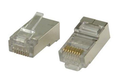 CAT6 Connector RJ45 voor stugge kabel STP 10 stuks