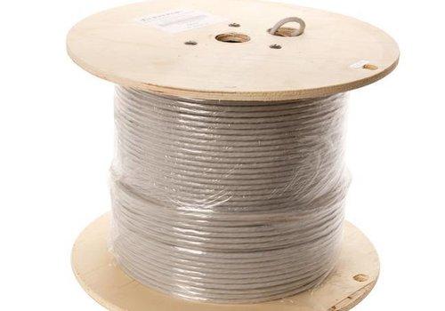 UTP CAT6a netwerkkabel stug 305M 100% koper grijs