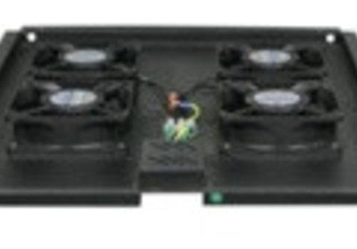 Fan-pakket met 4 ventilatoren geschikt voor alle serverkasten van 960mm diepte.
