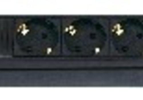 """6 voudig, met digitale display, 2m kabel, voor 19 rack"""""""