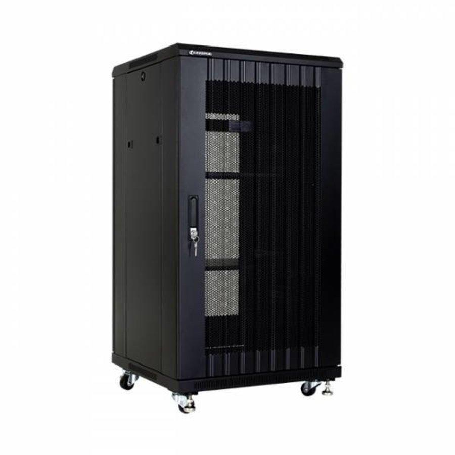 22U serverkast met geperforeerde deuren 600x600x1166mm (BxDxH)-1