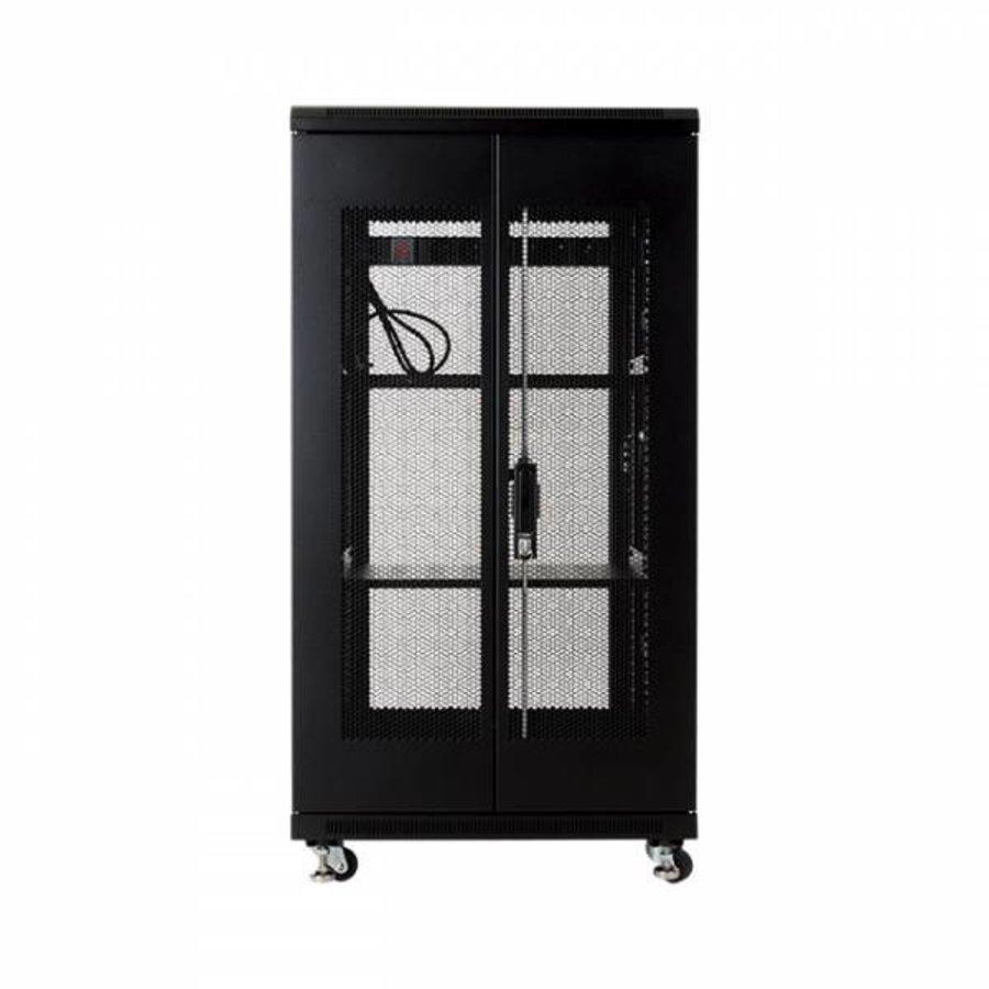 22U serverkast met geperforeerde deuren 600x600x1166mm (BxDxH)-4