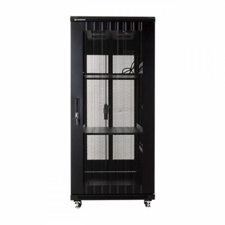 27U serverkast met geperforeerde deuren 600x1000x1388mm (BxDxH)-3