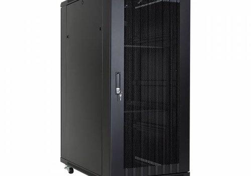 27U serverkast met geperforeerde deuren 600x800x1388mm (BxDxH)
