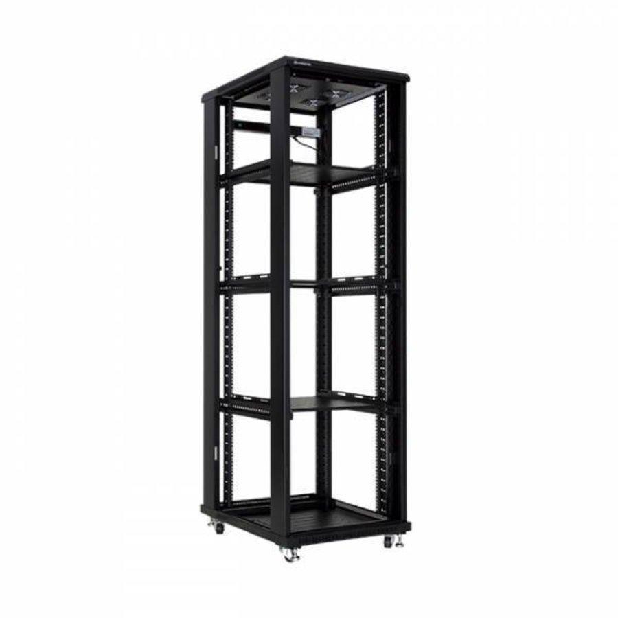 42U serverkast met geperforeerde deuren 600x1000x2055mm (BxDxH)