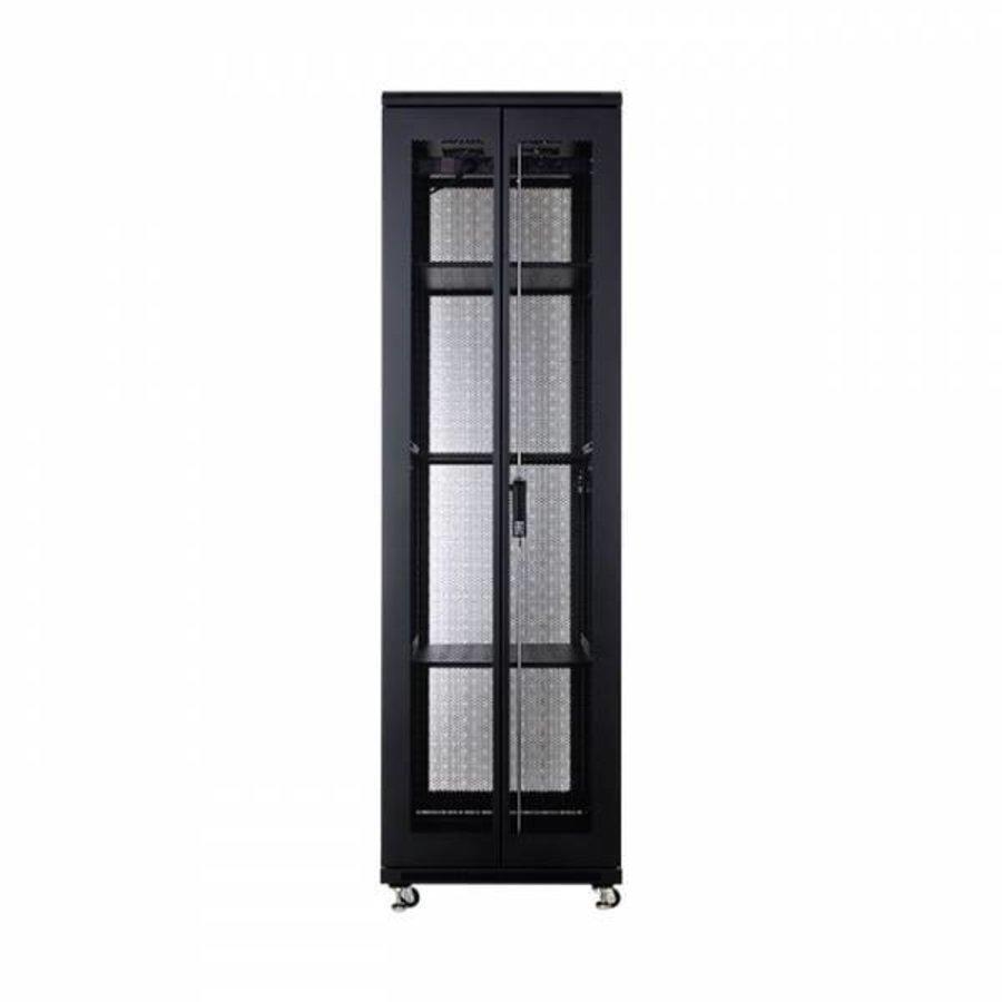 42U serverkast met geperforeerde deuren 600x800x2055mm (BxDxH)-4