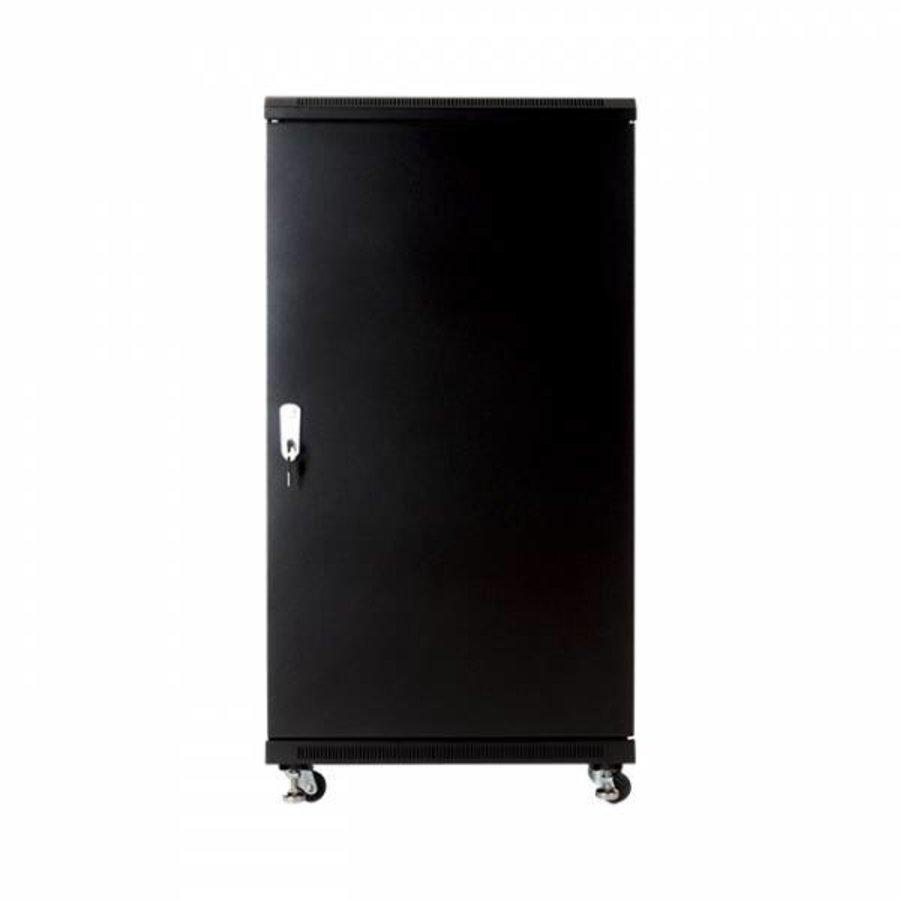 22U serverkast met glazen deur 600x600x1166mm (BxDxH)