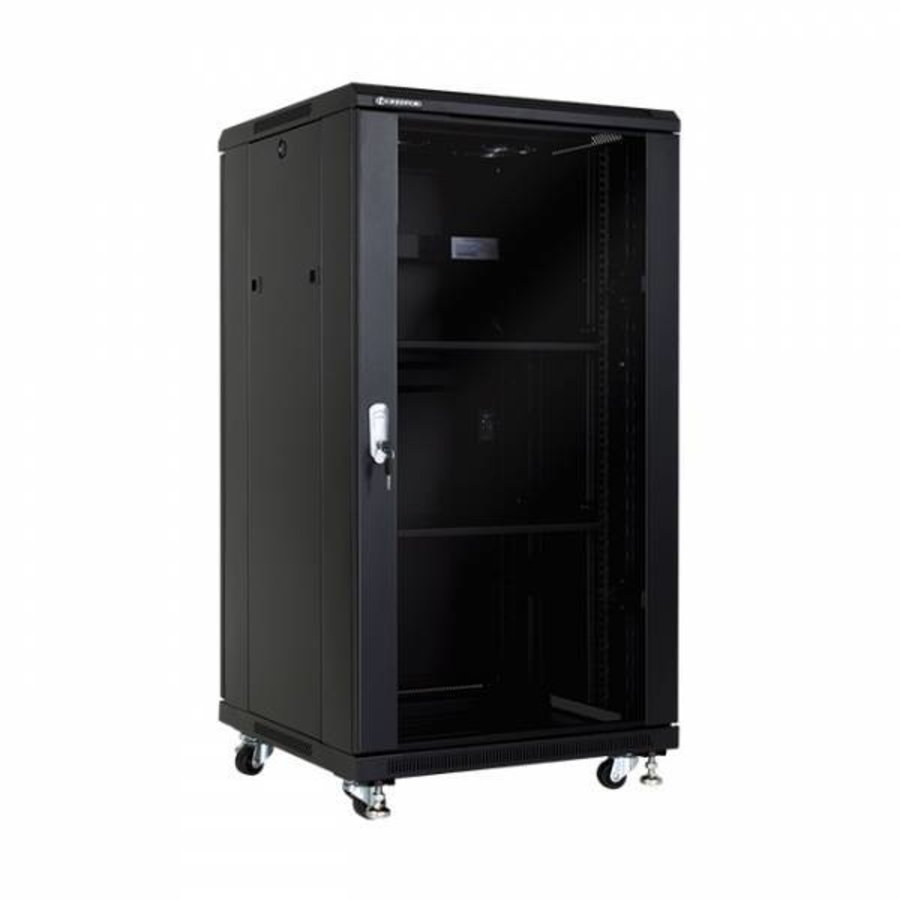 22U serverkast met glazen deur 600x800x1166mm (BxDxH)-1