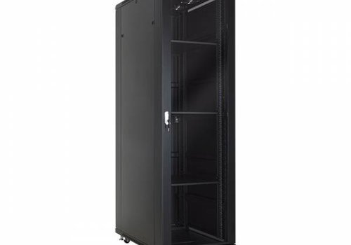 37U serverkast met glazen deur 600x1000x1833m (BxDxH)