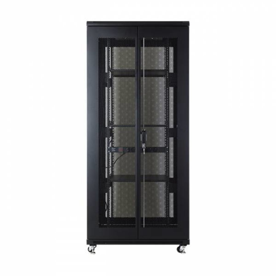 37U serverkast met geperforeerde deuren 800x800x1833mm (BxDxH)-4