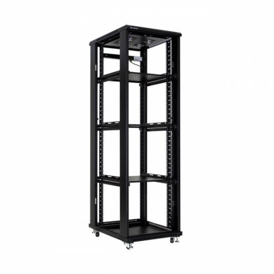 42U serverkast met glazen deur 600x1000x2055mm (BxDxH)
