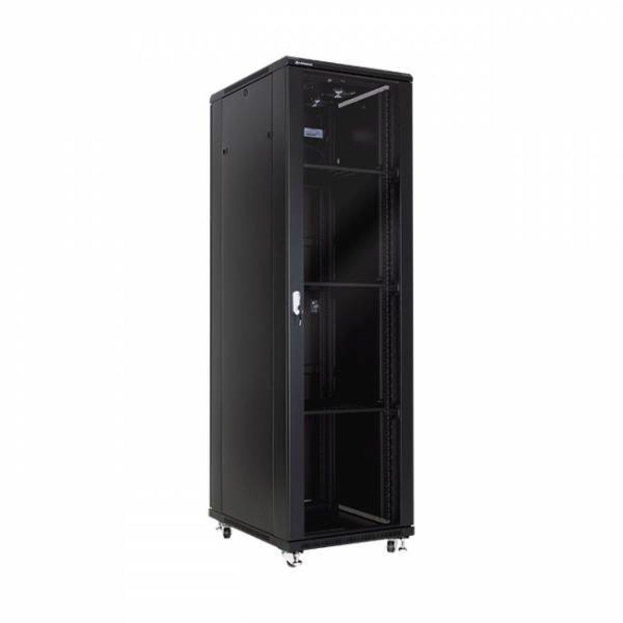 42U serverkast met glazen deuren 600x800x2055mm (BxDxH)