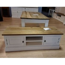TV dressoir wit met teak (OR 7)