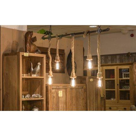 industriële lamp met touw